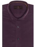 Plum with Navy Over Print Tailored Fit Sport Shirt | Robert Talbott Sport Shirts Collection  | Sam's Tailoring Fine Men Clothing