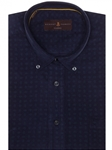 Navy Over Print Derby Classic Fit Sport Shirt | Robert Talbott Sport Shirts Collection  | Sam's Tailoring Fine Men Clothing