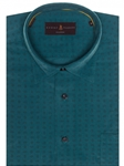 Teal Over Print Anderson II Classic Fit Sport Shirt | Robert Talbott Sport Shirts Collection  | Sam's Tailoring Fine Men Clothing