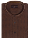 Brown with Navy Over Print Classic Fit Sport Shirt | Robert Talbott Sport Shirts Collection  | Sam's Tailoring Fine Men Clothing