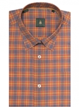 Orange, Yellow & Blue Plaid Anderson Sport Shirt | Robert Talbott Sport Shirts Collection  | Sam's Tailoring Fine Men Clothing