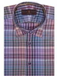 Multi Colored Plaid Howard Tailored Sport Shirt | Robert Talbott Sport Shirts Collection  | Sam's Tailoring Fine Men Clothing
