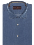 Chambray Crespi IV Tailored Fit Sport Shirt | Robert Talbott Sport Shirts Collection  | Sam's Tailoring Fine Men Clothing