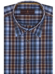 Brown and Blue Plaid Anderson II Classic Sport Shirt | Robert Talbott Sport Shirts Collection  | Sam's Tailoring Fine Men Clothing