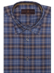 Blue and Brown Plaid Anderson II Classic Sport Shirt | Robert Talbott Sport Shirts Collection  | Sam's Tailoring Fine Men Clothing