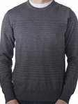 Grey Broderick Degrade Stripe Crew Neck Sweater | Robert Talbott Fall 2017 Collection | Sam's Tailoring Fine Mens Clothing