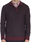 Pinot Trevis Honeycomb Stitch Button Mock Neck Sweater | Robert Talbott Fall 2017 Collection | Sam's Tailoring Fine Mens Clothing