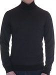 Charcoal Fenton Birdseye Turtleneck Sweater | Robert Talbott Fall 2017 Collection | Sam's Tailoring Fine Mens Clothing
