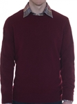 Burgundy Cashmere Seacliff Crew Neck Sweater | Robert Talbott Fall 2017 Collection | Sam's Tailoring Fine Mens Clothing