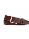 Brandy Glazed Nappa With Brushed Nickle Buckle Belt | W.Kleinberg Belts Collection | Sam's Tailoring