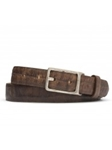 Cognac Southwest Tail With Nickle Buckle Belt | W.Kleinberg Belts Collection | Sam's Tailoring