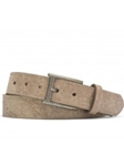 Tan Merino Calf With Distressed Nickle Buckle Belt | W.Kleinberg Belts Collection | Sam's Tailoring
