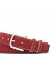 Red/White Suede Calf With Antiqued Buckle Belt | W.Kleinberg Belts Collection | Sam's Tailoring