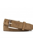 Whiskey Suede Calf With Roller Buckle Belt | W.Kleinberg Belts Collection | Sam's Tailoring