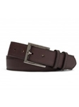 Chocolate Matte Claf With Gunmetal Buckle Belt | W.Kleinberg Belts Collection | Sam's Tailoring