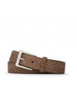 Cognac Shark With Antiqued Nickle Buckle Belt | W.Kleinberg Belts Collection | Sam's Tailoring