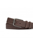 Chocolate Matte Lizard With Matte Gunmetal Buckle Belt | W.Kleinberg Belts Collection | Sam's Tailoring