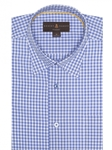 Blue and White Check Anderson II Classic Sport Shirt | Robert Talbott Sport Shirts Collection  | Sam's Tailoring Fine Men Clothing