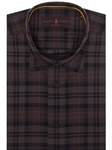 Brown, Grey and Black Plaid Anderson II Sport Shirt | Robert Talbott Sport Shirts Collection  | Sam's Tailoring Fine Men Clothing