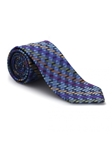 Blue, Black & Orange Best of Class Extra Long Tie | Robert Talbott XL Ties Collection | Sam's Tailoring