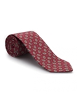 Red & Sky Dots Best of Class Extra Long Tie | Robert Talbott XL Ties Collection | Sam's Tailoring