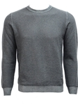 Charcoal Honeycomb Knit Crew Neck Sweater | Stone Rose New Arrivals | Sams Tailoring Fine Men Clothing