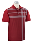 Brick Red XH20 Robertson Printed Overisized Plaid Polo | Bobby Jones Spring Collection | Sam's Tailoring Fine Men Clothing