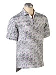 White XH20 Seahorse Print Short Sleeve Polo | Bobby Jones Spring Collection | Sam's Tailoring Fine Men Clothing