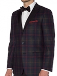 Hunter & Navy Dress Tartan Thomas Dinner Jacket | Robert Talbott Sports Coats  | Sams Tailoring Fine Men Clothing