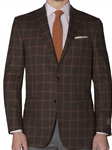 Cocoa With Ember Windowpane Carmel Sport Coat | Robert Talbott Sports Coats  | Sams Tailoring Fine Men Clothing