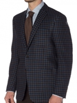 Turquoise, Navy, Indigo, and Olive Check Carmel Sport Coat | Robert Talbott Sports Coats  | Sams Tailoring Fine Men Clothing
