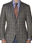 Turquoise with Orange and Lavender Plaid Carmel Sport Coat | Robert Talbott Sports Coats | Sams Tailoring Fine Men Clothing