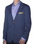 Navy With Dots Patch Pocket Marin Stretch Soft Jacket | Robert Talbott Sports Coats | Sams Tailoring Fine Men Clothing