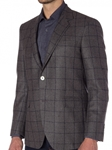 Navy with Turquoise Boucle Windowpane Carmel Sport Coat | Robert Talbott Sports Coats | Sams Tailoring Fine Men Clothing