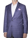 Lavender with Lapis Windowpane Carmel Sport Coat | Robert Talbott Sports Coats | Sams Tailoring Fine Men Clothing