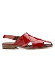 Red Genuine Eel Heel Strap Monza Shoe | Belvedere Shoes Spring & Summer Collection | Sams Tailoring