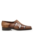 Antique Almond Genuine Alligator & Italian Calf Land Shoe | Belvedere Shoes Spring & Summer Collection | Sams Tailoring