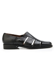 Black Genuine Alligator & Italian Calf Land Shoe | Belvedere Shoes Spring & Summer Collection | Sams Tailoring