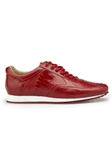 Flame Red Genuine Ostrich Rubber Sole Dayton Shoe | Belvedere Shoes Spring & Summer Collection | Sams Tailoring
