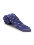 Lavender & Blue Stripe Best of Class XL Tie | Robert Talbott Extra Long Ties Collection | Sam's Tailoring