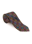 Black with Multi-Color Geometric Best of Class XL Tie | Robert Talbott Extra Long Ties Collection | Sam's Tailoring
