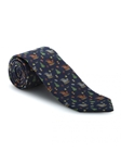 Navy Noel Sleigh Best of Class Extra Long Tie | Robert Talbott Extra Long Ties Collection | Sam's Tailoring