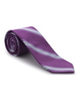 Purple, White and Sky Stripe Heritage Best of Class Tie | Best of Class Ties Collection | Sam's Tailoring Fine Men Clothing