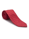 Red Tonal Geometric Heritage Best of Class Silk Tie | Best of Class Ties Collection | Sam's Tailoring Fine Men Clothing