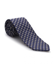 Navy and Gold Geometric Heritage Best of Class Tie | Best of Class Ties Collection | Sam's Tailoring Fine Men Clothing
