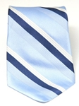 Hart Schaffner Marx Sky Broad Stripe Silk Tie 3055 - Ties | Sam's Tailoring Fine Men's Clothing