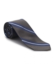 Grey and Navy Stripe Academy Best of Class Tie | Best of Class Ties Collection | Sam's Tailoring Fine Men Clothing