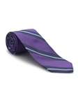Lavender and Navy Stripe Academy Best of Class Tie | Best of Class Ties Collection | Sam's Tailoring Fine Men Clothing