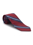 Red and Blue Stripe Academy Best of Class Tie | Best of Class Ties Collection | Sam's Tailoring Fine Men Clothing