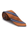 Orange and Blue Stripe Academy Best of Class Tie | Best of Class Ties Collection | Sam's Tailoring Fine Men Clothing